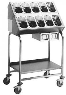 Besteck- und Tablettwagen