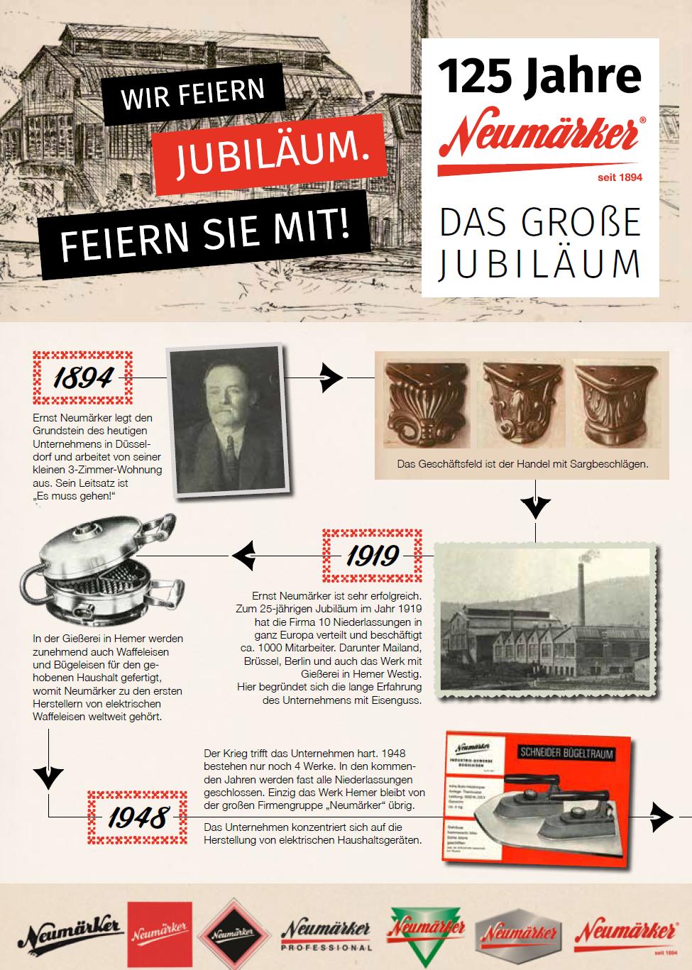 Neumärker Jubiläums-Angebote