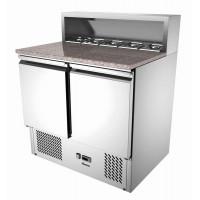 Bartscher Pizza-Saladette 900T2, Aufsatz für 5 x 1/6 GN (oder 2 x 1/3 GN und 1 x 1/6 GN), 2 Türen