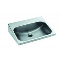 Blanco W 5,5 x 4,5 x 1,5 Handwaschbecken mit angeschweißten Dreieckskonsolen