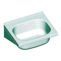 Blanco W 4 x 3,2 x 1,5 Handwaschbecken mit Dreieckskonsolen