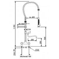 ecomax by HOBART Handbrause mit Standmischbatterie für Haubenspülmaschine ecomax H604