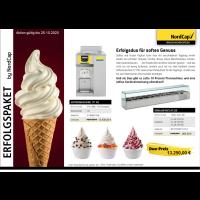 NordCap Erfolgspaket | Erfolgsduo für soften Genuss | Softeismaschine 171 NC + Kühlaufsatz A1320