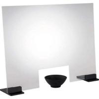 APS Hygieneschutzwand 75 x 16,5 cm | Höhe 57 cm | Aluminiumfüße