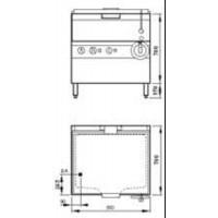 MKN Kippbratpfanne Elektro 2/1 GN Handkippung PowerBlock Optima 700