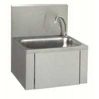 Neumärker Handwaschbecken mit Kniebedienung Eckiges Waschbecken