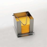 Stöckel Serviettenbox aus Edelstahl mit Haltebügel versch. Größen