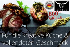 ASTEUS MADE IN GERMANY 800° Elektro-Infrarot-Profi-Grills