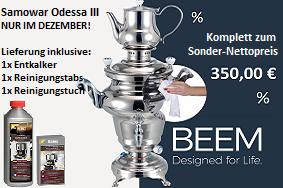 Gastro BEEM Samowar Odess III Dezember-Aktion
