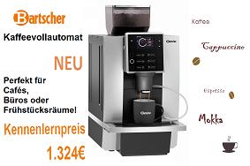 Bartscher Neuheit Kaffeevollautomat KV1 für nur 1324€