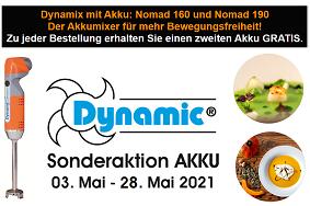 Dynamic Aktion 03. - 31.05 Nomad Akkumixer 160 + 190 mit Gratis Akku