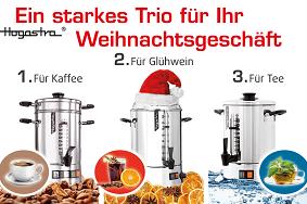 Kaffeeautomaten * Heißwasserspender * Hogastra Glühweinspender * Perfekter Glühwein