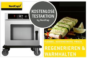"""Nordcap Kostenfrei Testaktion  """"Warmhalten & Regenerieren"""""""